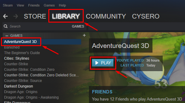 AQ3D in the STEAM Library