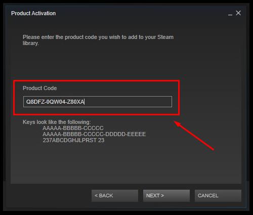 steam code