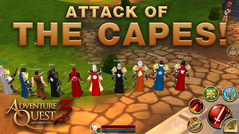 Attack of the Capes! - Adventure Quest 3D, Cross Platform MMORPG