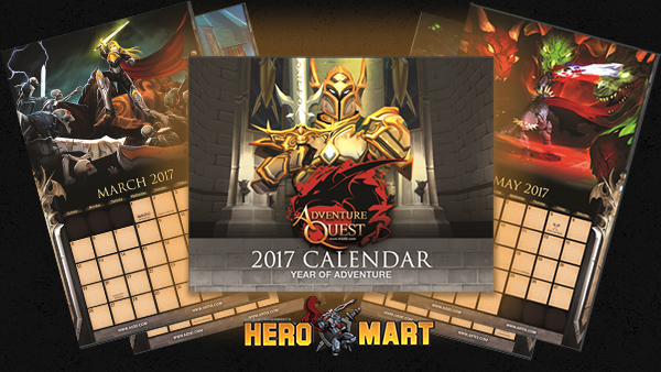 2017 Artix Entertainment Calendar