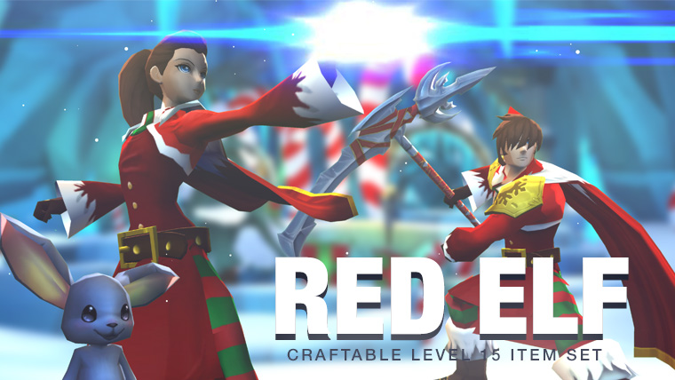 Red Elf - Craftable AdventureQuest 3D Item Frostval Set