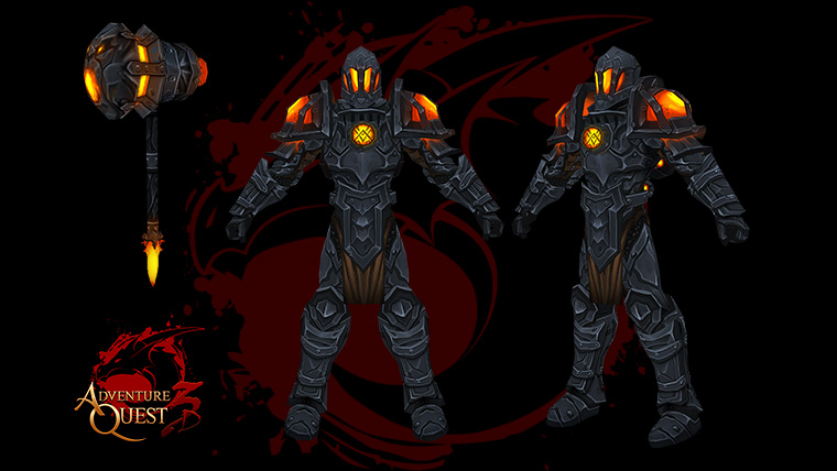 AdventureQuest 3D Lava Armor