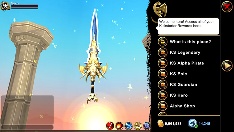 AQ3D Sanctuary Menu
