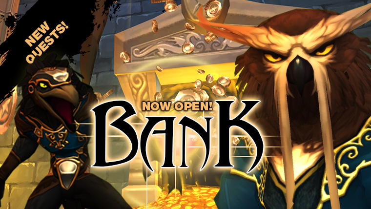 The Bank is now open!