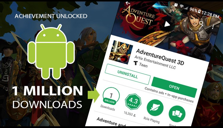 One Million Installs on Android