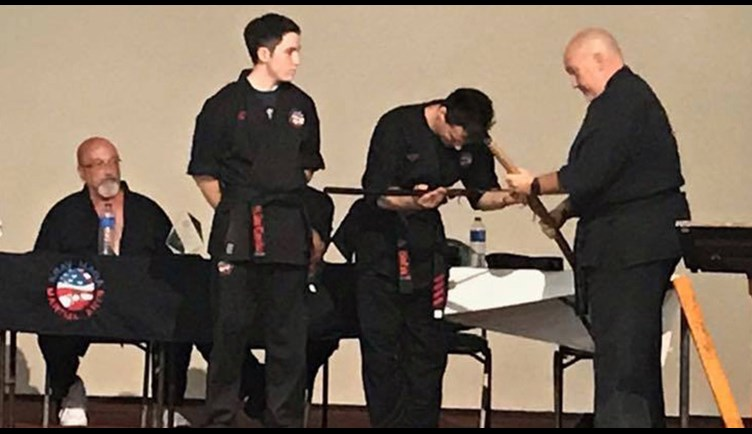 Artix recieved his 4th degree black belt