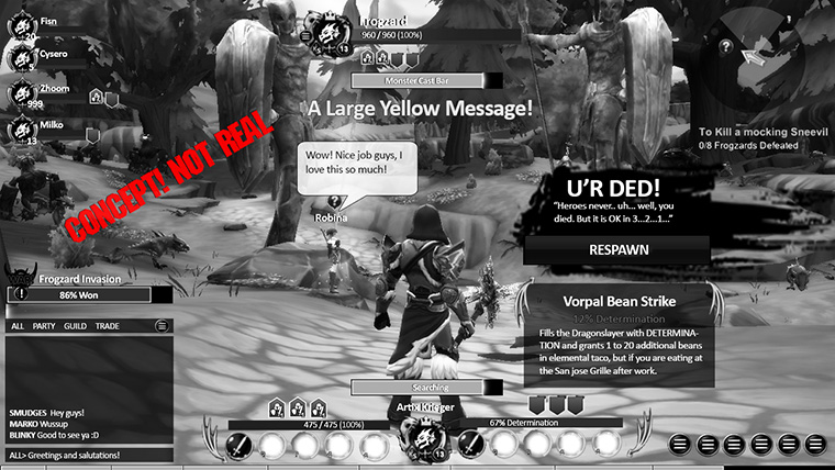 AdventureQuest 3D PC interface all turned on
