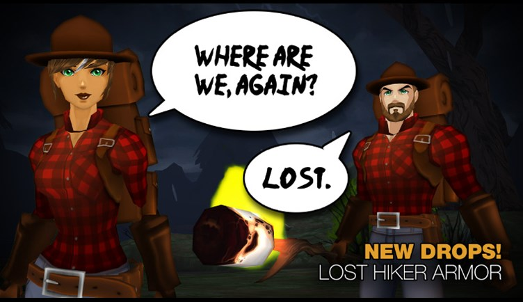 New Lost Hiker Sets available as Monster Drops