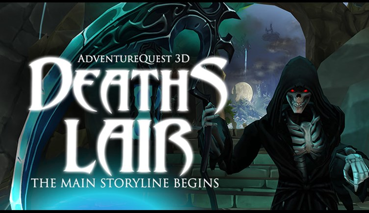 Death's Lair in AdventureQuest 3D the Free MMORPG on MObile and Steam