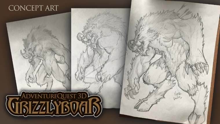 Grizzly Boar - Concept Art