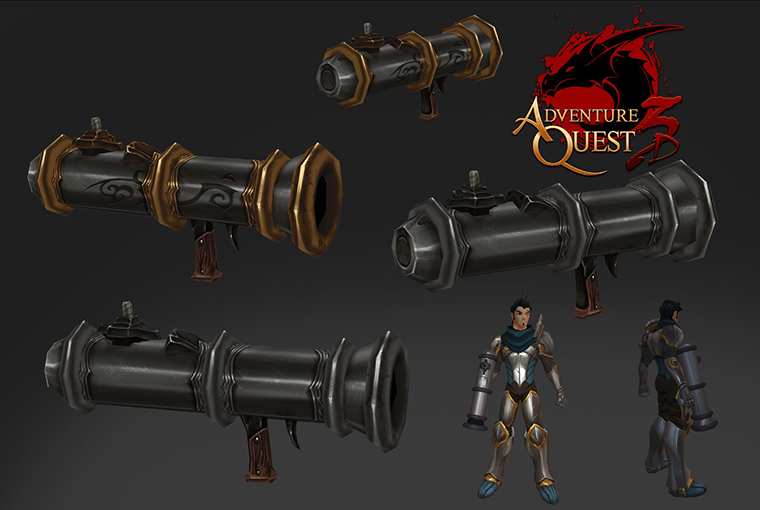 AQ3D hand Cannons