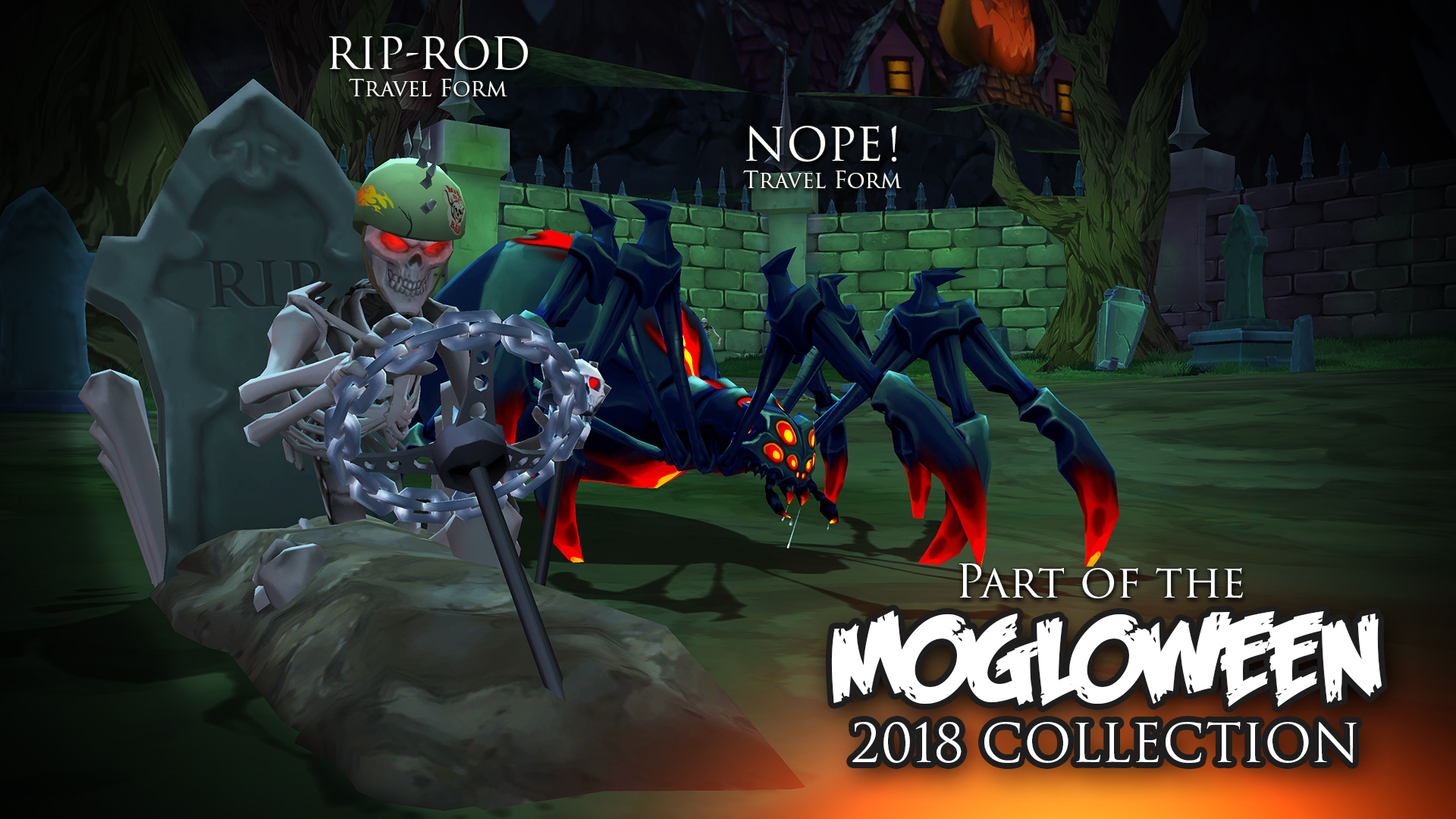Mogloween collection 2018 travel forms RIP ROD and Spider