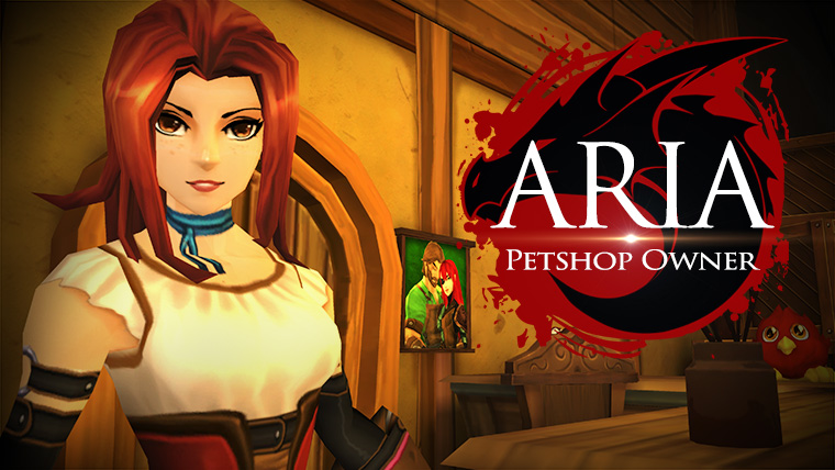 Aria is the owner of the petshop in AdventureQuest 3D