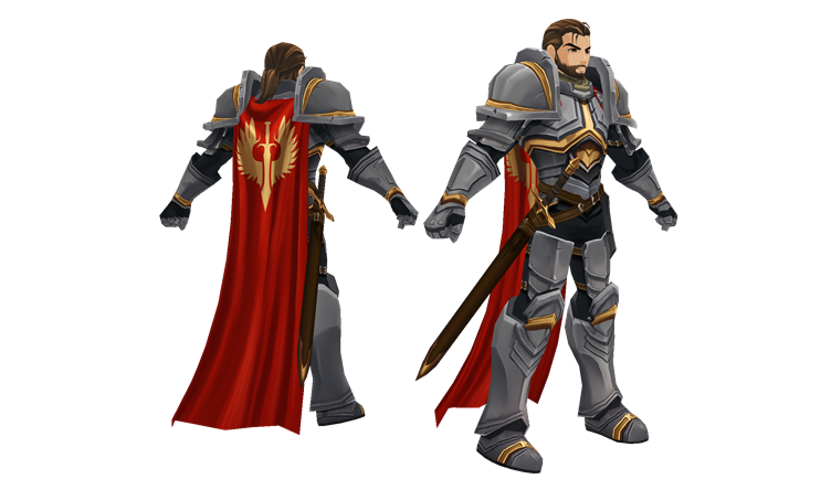 Paladin NPC in AdventureQuest 3D