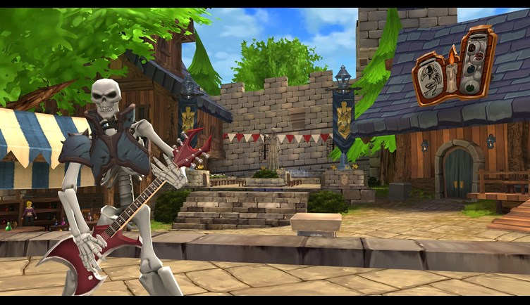Hang out at Battleon's Social District