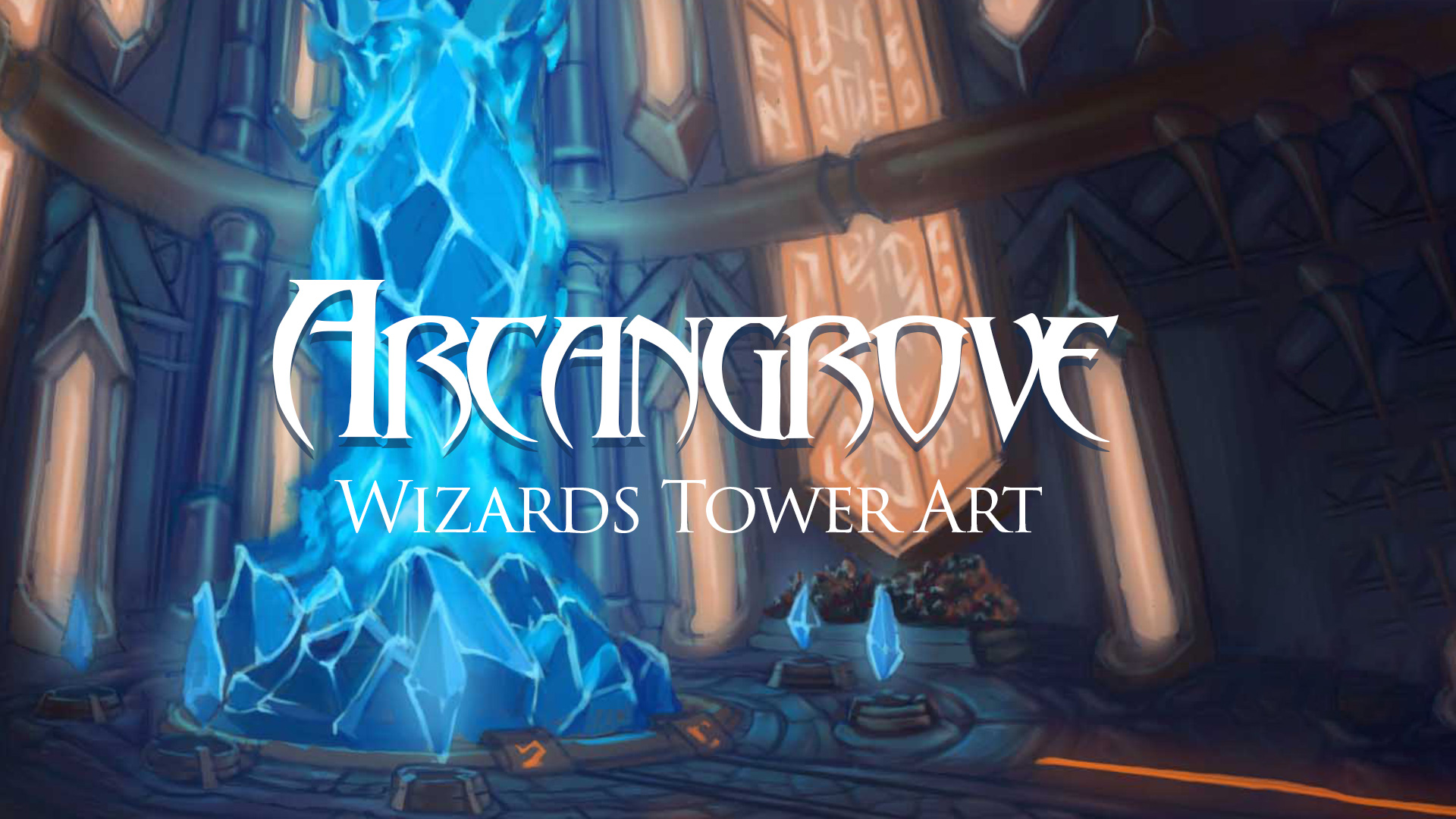Arcangrove Wizard Tower Concept Art - Adventure Quest 3D