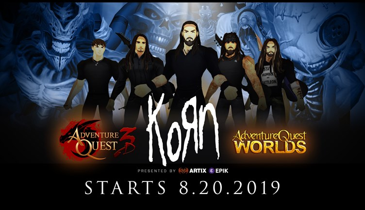 Korn in AdventureQuest 3D 8.20.2019