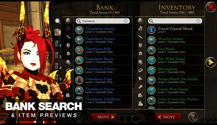AdventureQuest 3D Bank Search