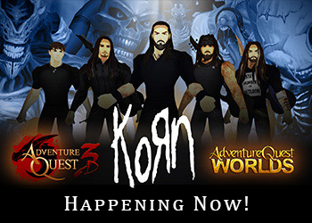 Korn Battle Concert in AdventureQuest
