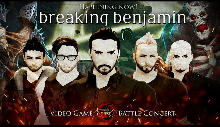 Breaking Benjamin as video game characters