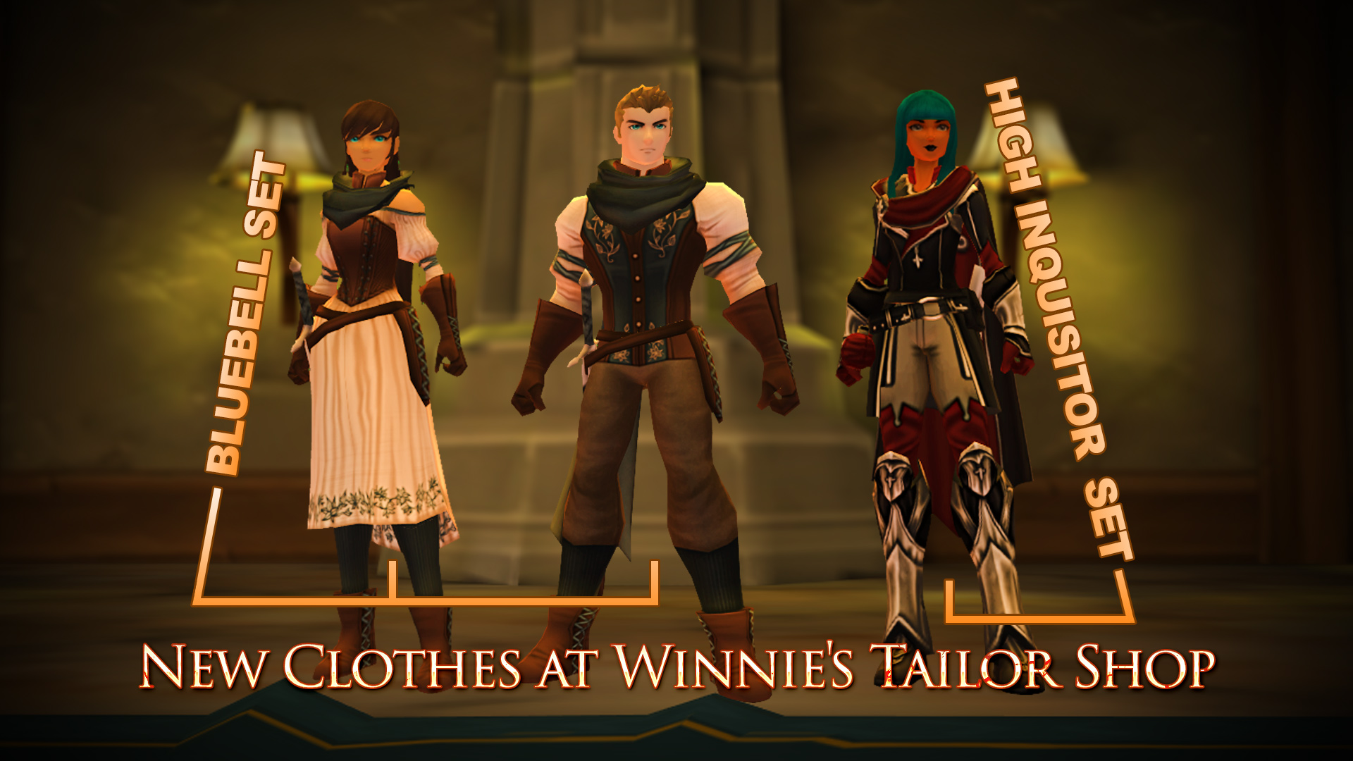 Tailor new clothes at Winnie's Tailor Shop