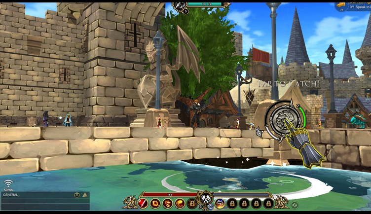 Fishing locations in AdventureQuest 3D