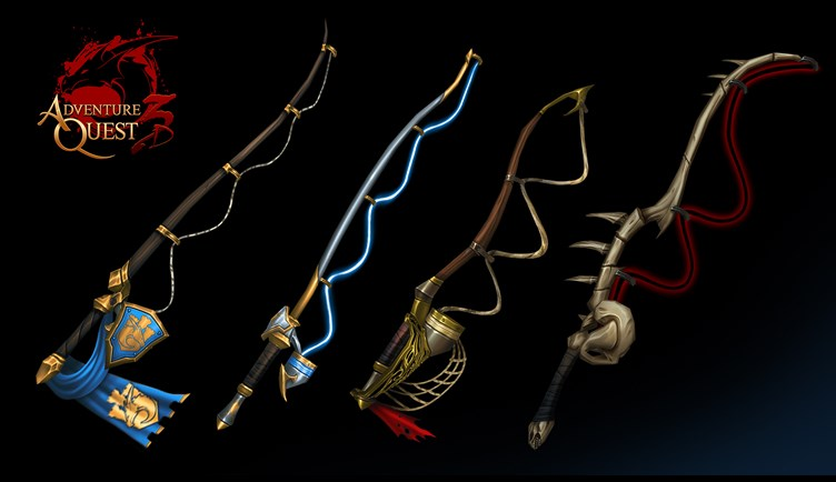 Fishing Poles in AdventureQuest 3D MMORPG