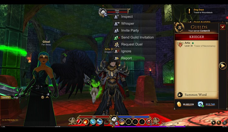 Joining a Guild in AdventureQuest 3D